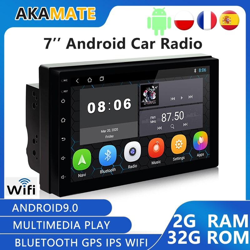 Автомагнитола на Android, 2 Din, GPS, Bluetooth, Wi-Fi, GPS-навигация, 2 Гб, 32 ГБ, 7 дюймов, автомобильный видеоплеер для Toyota, Nissan, автомобильный мультимедийный п...