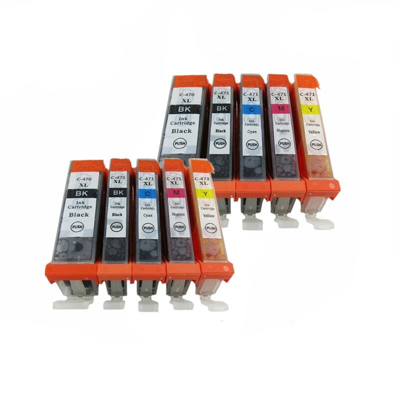 PGI-470 PGBK XL PGI-470PGBK PGI470 PGI 470 CLI-471 cartuchos de tinta, cartuchos de Pixma MG-7740 MG 5740 de 6840 de 7740 impresora de inyección de tinta