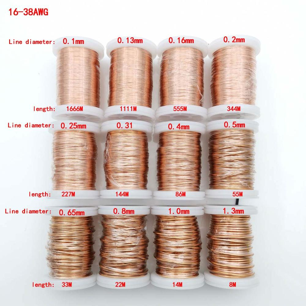 aliexpress.com - 0.05mm1mm 1.3mm polyurethane Enameled Copper Wire Magnet Wire Magnetic Coil Winding wire For Making Electromagnet Motor Copper