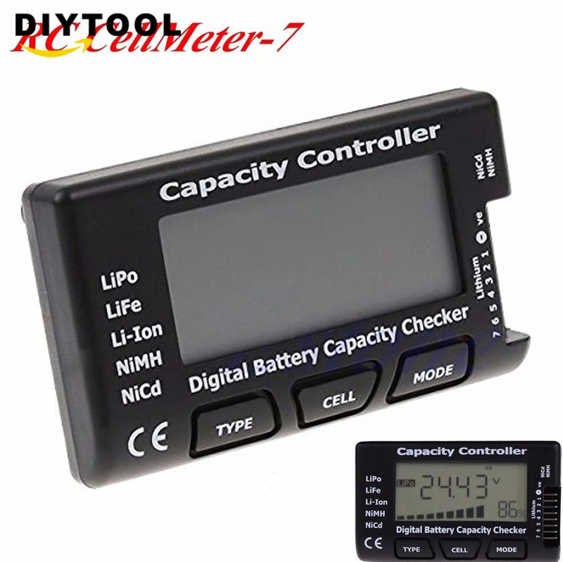7 Digital Battery Capacity Checker LiPo LiFe Li-ion Nicd NiMH Battery Voltage Tester Checking Capacity Controlle battery tester 2pcs 1pcs bx100 1 8s lipo battery voltage tester low voltage buzzer alarm battery voltage checker with dual speakers