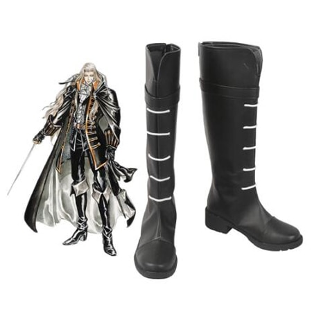 Castlevania Alucard أدريان فارنهايتس Tepes تأثيري أحذية أحذية حذاء رجالي زي مخصص اكسسوارات هالوين أحذية الحفلات