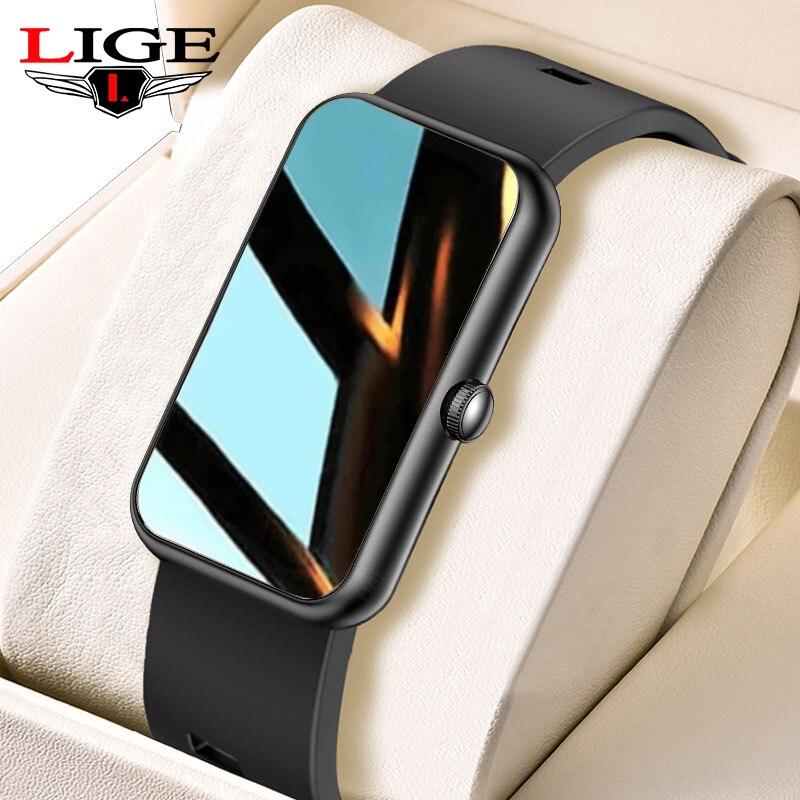 LIGE Women Smart Watch Smart Bracelet Exercise Men Watches Blood Pressure Heart Rate IP68 Waterproof