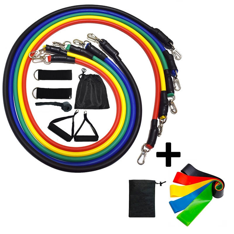 17/12Pcs Latex Resistance Bands Yoga Pull Rope Expander Fitness Equipment Elastic Bands Fitness Exercise Drop Shipping Jump Rope