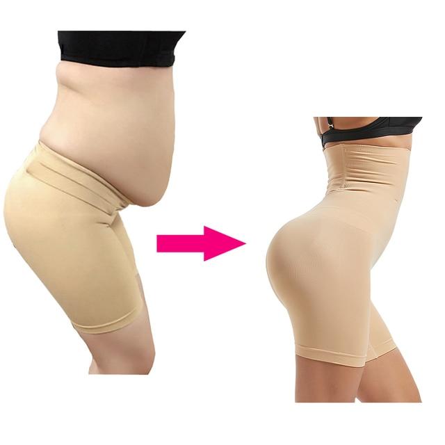 Прикладом трусы для похудения Высокая Талия Управление трусики Пластика Shaper Талия тренер для похудения нижнее белье Талия моделирование ремень утягивающие трусы трусы женские коректирующее белье шорты для похудения | Женская одежда | АлиЭкспресс