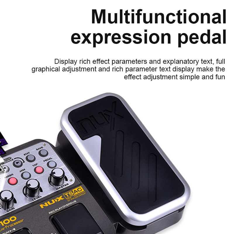 Nux MG-100 Multi Effects For Electric Guitar Stringed Instrument Parts Guitar Pedal Electric Guitar Effect Pedal enlarge