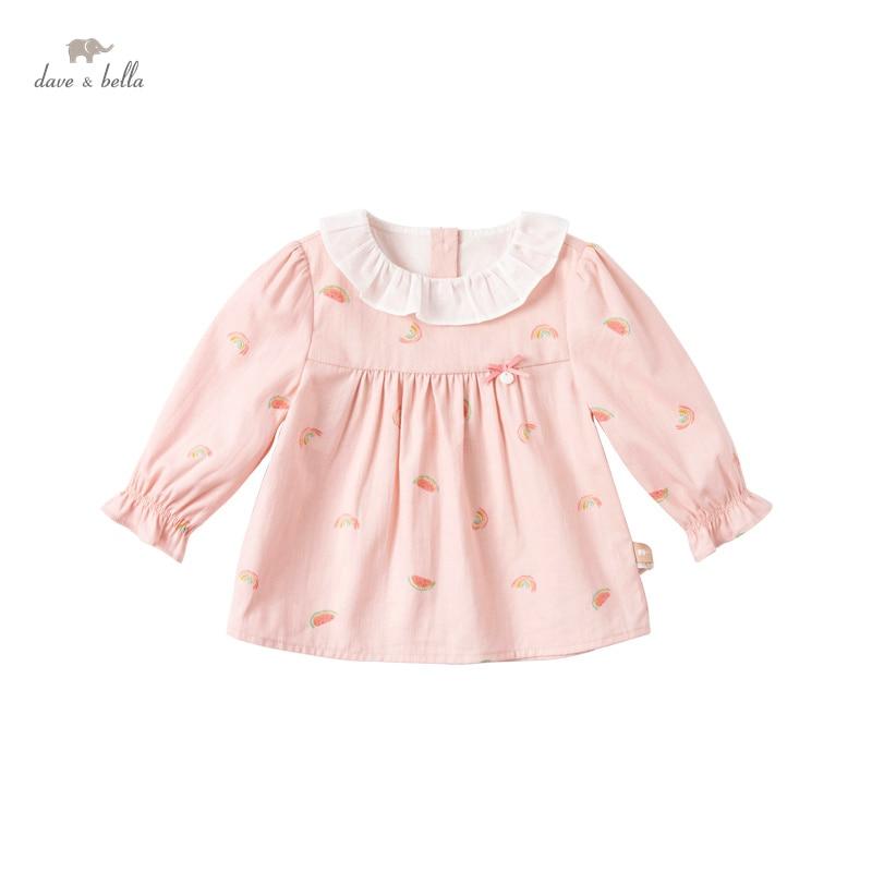 DBJ17136, демисезонная Модная рубашка с бантом для маленьких девочек, с мультяшным принтом, топы для малышей, детская одежда высокого качества|Блузки и рубашки| | АлиЭкспресс