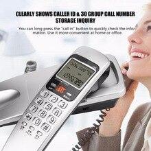Teléfono FSK/DTMF con cable, identificador de llamadas, teléfono fijo, teléfono de extensión a la moda para el hogar, oficina, Hotel, negro