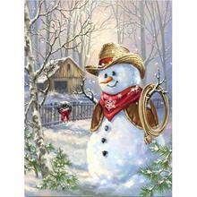 5D Снеговик Алмазная краска ing Kit полная дрель краска с фотографии с бриллиантами искусства