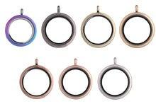 5 Pcs/lot L4 30mm rond flottant Photo médaillon pendentif faisant huile essentielle parfum cadeau pour les femmes colliers bijoux accessoires
