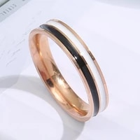 titanium steel couple rings gold wave pattern wedding infinity ring men and women engagement jewelry gifts classic simplicity