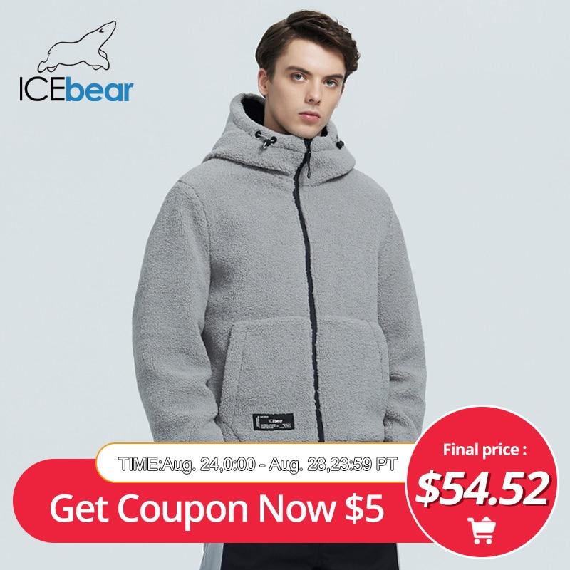 Icebear 2020, nueva chaqueta de invierno para mujer, abrigo corto de algodón, chaqueta de forro polar, ropa de marca unisex MWC20966D