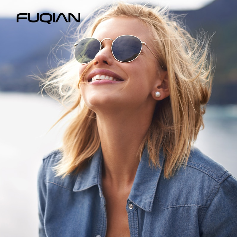 classic polarized sunglasses for women and men round glasses mens sun glasses girls eyeglasses colorful sunglasses ladies tr90 FUQIAN Round Polarized Sunglasses Women Men Classic Small Metal Sun Glasses Male Vintage Anti-glare Driving Eyeglasses UV400