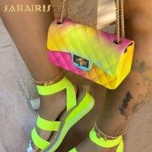 SARAIRIS Colorful New INS Hot Multi Woman's Crossbody Bags Female 2020 Unique Handbags Ladies Chains Schoulder Bags