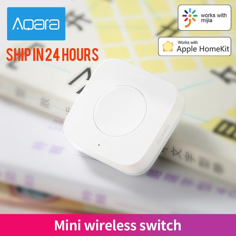 Aqara مفتاح لاسلكي صغير زيجبي اتصال متعدد الاستخدامات زر تحكم 3 اتجاهات للأجهزة المنزلية الذكية متوافق مع أبل HomeKit