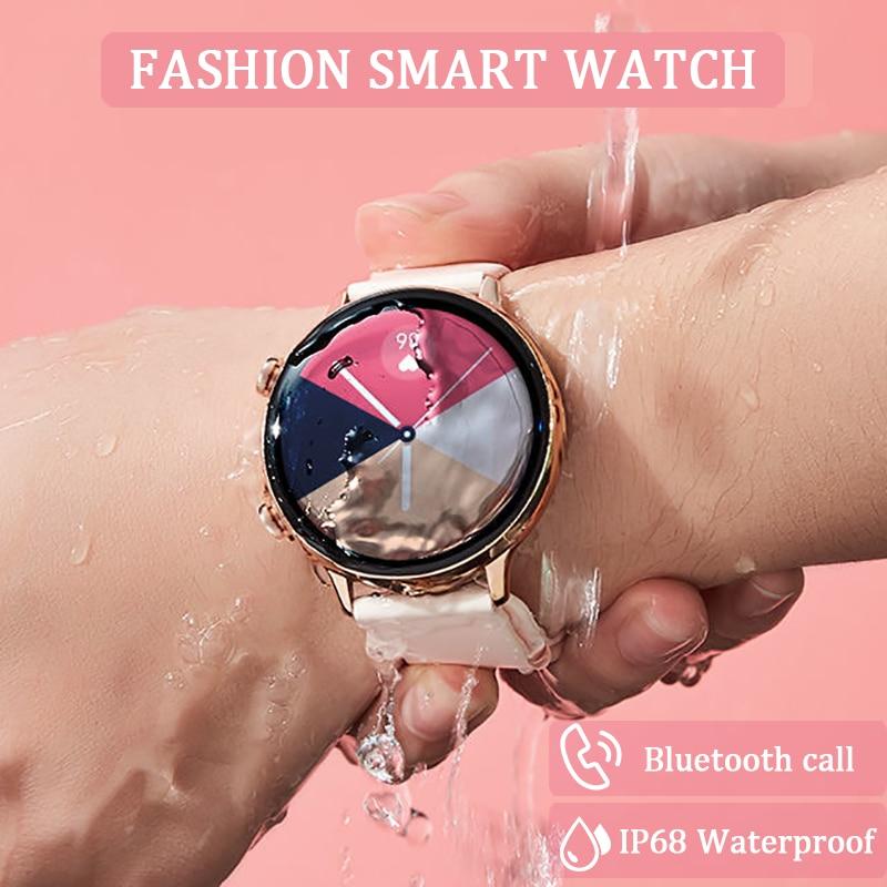 2021 موضة ECG ساعة ذكية النساء IP68 مقاوم للماء رصد معدل ضربات القلب الرجال بلوتوث دعوة Smartwatch لسامسونج غالاكسي نشط 2
