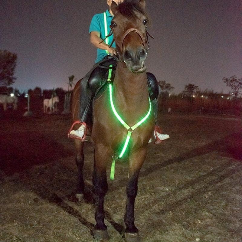 LED الحصان الصدر طوق قابل للتعديل شريط للصدر أفضل وضوح عالية تاك ل الحصان الفروسية سلامة والعتاد ليلا