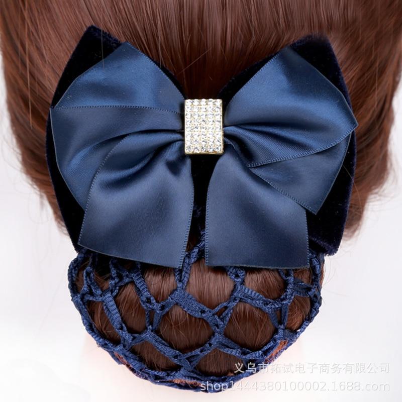 Nurse stewardess bank post hotel staff job occupation head flower hair net net hair accessories headdress ribbon handmade FS044