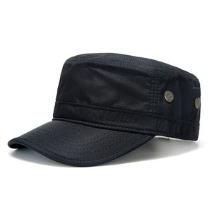 Dry Quicky Polyester Thin Army Flat Hat Adult Outdoors Cool Sun Hats Big Bone Men and Women plus size Mesh Military Caps 55-62cm