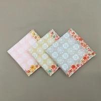 12pcs 43 43cm 60s japan korea handkerchief cotton print lady bandana fresh handkerchief