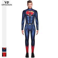 VIP MODE Neue Ankunft herren Superman Cosplay Kostüme Für Männer Overall Muscle Cosplay Halloween SuperHero Zentai Film Kostüm