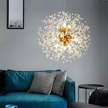 Moderne LED Kristall Kronleuchter Licht Anhänger Hängen Lampe Löwenzahn Kristall Kronleuchter Beleuchtung für Wohnzimmer Esszimmer Dekoration