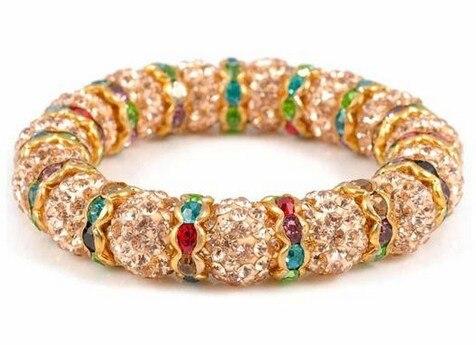 Neue ankunft! Muilti farbe spacer mit shambala Ball Perlen Armband fasion Geschenk schmuck Rabatt. kristall