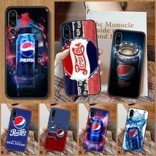 Funny Pepsis Cola Phone Case For Huawei P Mate P10 P20 P30 P40 10 20 Smart Z Pro Lite black soft she