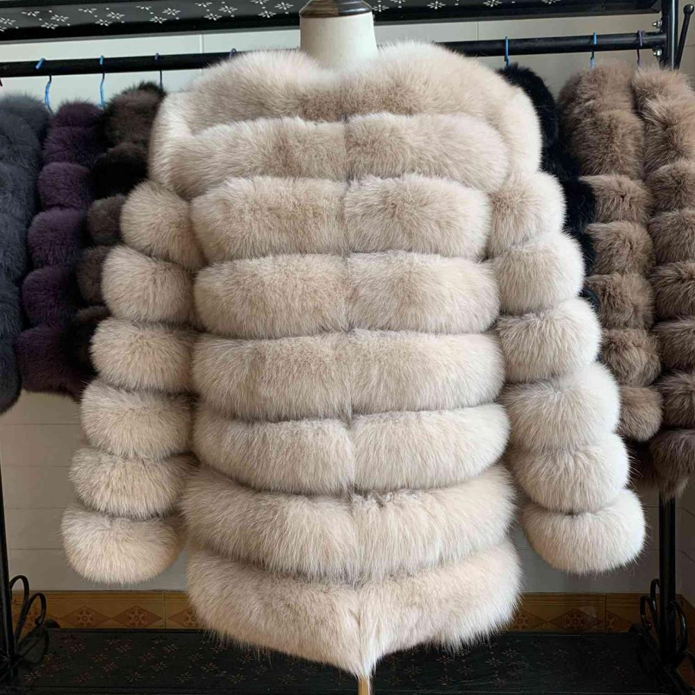 معطف فرو ثعلب أصلي للنساء ، ملابس بأكمام طويلة ، جودة عالية ، شتاء ، دافئ ، سميك ، ثعلب طبيعي ، 100%