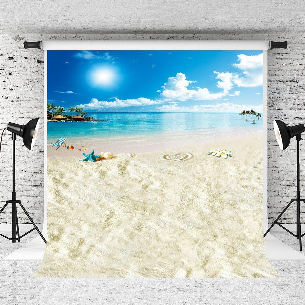 Kate 8x15ft playa estudio telones de fondo de mar foto de boda Backgrund luz del sol estrella de mar playa fiesta tema Backdrops LK-1602