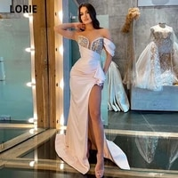 lorie deep v neck mermaid evening party gowns 2021 vestidos de festa sexy side split sparkly crystals junior birthday prom dress