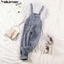 Autumn Rompers Women Jeans Jumpsuit Large Size 2021 Loose Casual Denim Rompers Womens Jumpsuits Wide