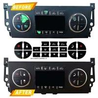 1 set ac dash button sticker repair for tahoe suburban avalanche silverado yukon denali gmc vehicles