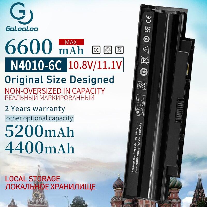 Golooloo 11.1v 6600mah Da Bateria Do Portátil para Dell Inspiron 13R N3010 14R N4010 15R N5010 17R N7010 M501 J1KND 451-11510 9TCXN j1knd