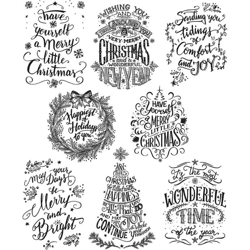 Christmas Greetings Silicone Clear Seal Stamp DIY Scrapbooking Embossing Photo Album Decor
