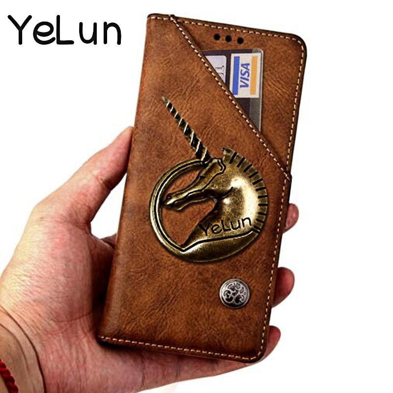 Voor Xiaomi Redmi 8 M1908C3IC MZB8257IN Cover Retro Luxe Eenhoorn Wallet Leather Phone Case Voor Redmi 8 Rode rijst 8 flip Case