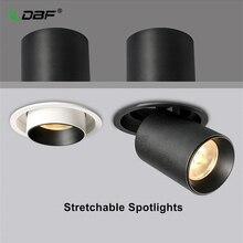 [DBF] Luz empotrada de techo estirable 7W 10W 12W Negro/blanco 360 ° grado giratorio 3000K/4000K/6000K foco de techo