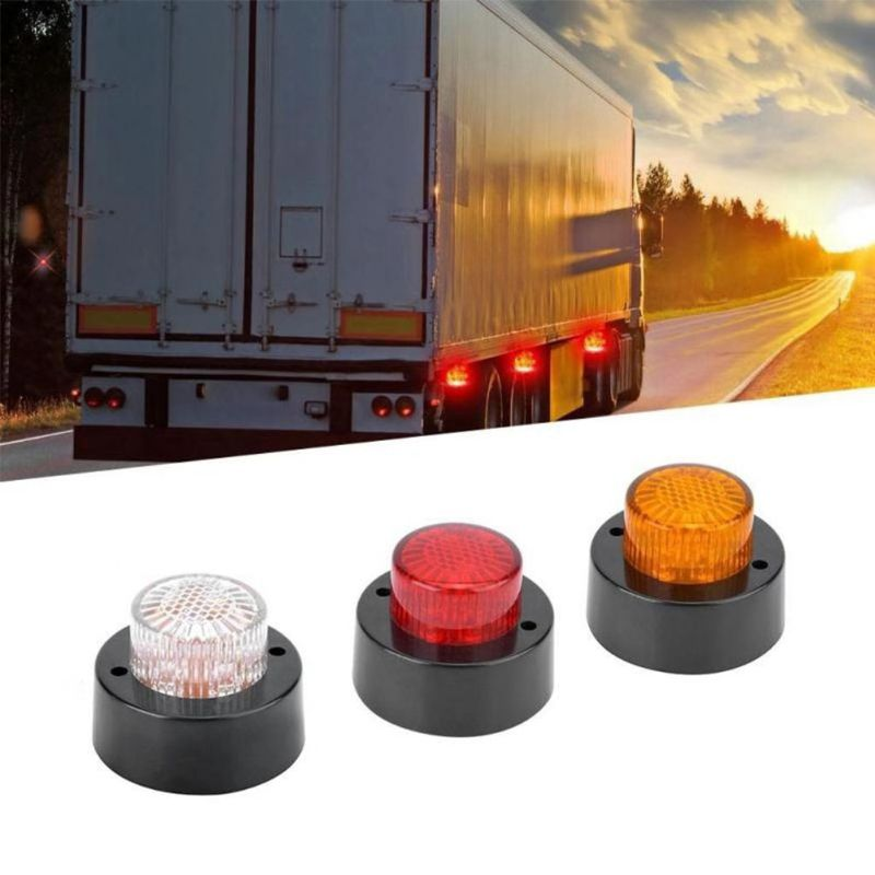 5 uds. Luces de indicador lateral redondas para camiones 10-30V 5 LEDs luces de borde cilíndricas redondas para camiones y remolques