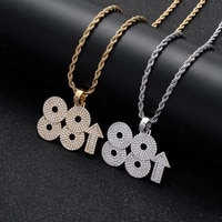 iced out 88rising rich brian pendant choker mens necklace hip hop gold silver color cubic zirconia charm jewelry gifts