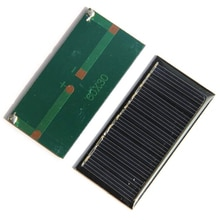 Mini 0,25 w 5v Panel de alimentación Solar sistema Diy batería celular cargador módulo portátil Panneau Solaire Placa de energía 60x30mm,5 uds