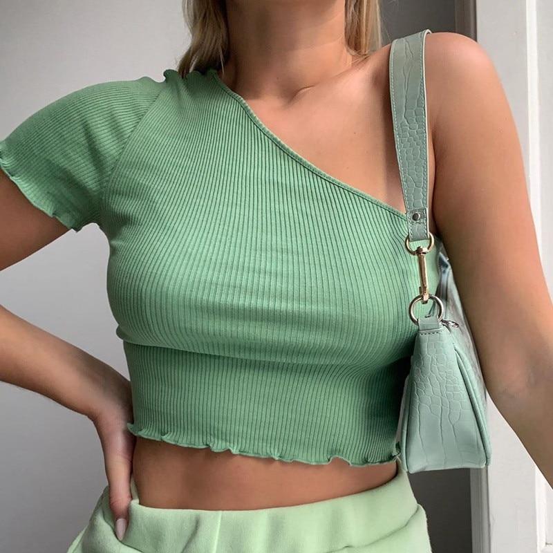 Nova malha de um ombro fino camisola cardigan feminino sexy colheita topos manga curta casual magro camisola das senhoras malha cardigan jumper