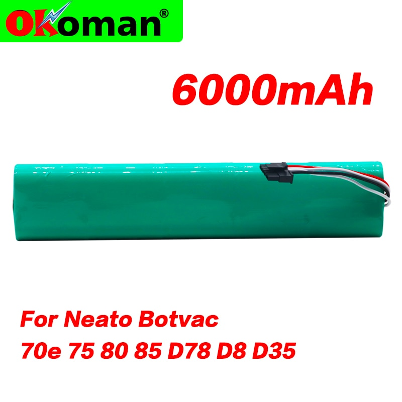 Upgrade 6000mAh 12V Ni-Mh Akku für Neato Botvac 70E 75 80 85 D75 D8 D85 Staubsauger Wiederaufladbare batterie