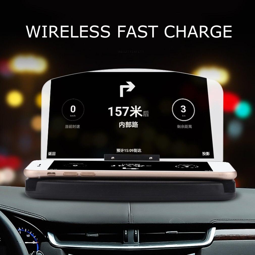 Отражающий экран, штатив для автомобильной навигации Hud, дисплей на голову, беспроводное зарядное устройство Qi, Автомобильный кронштейн высокого качества