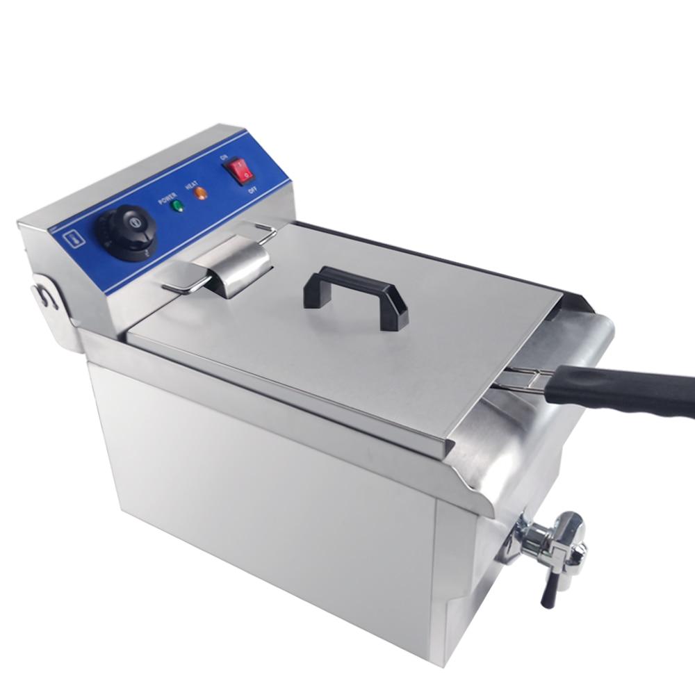 Freidora eléctrica multifuncional de acero inoxidable para freidora, pescado, pollo, carne, patatas fritas