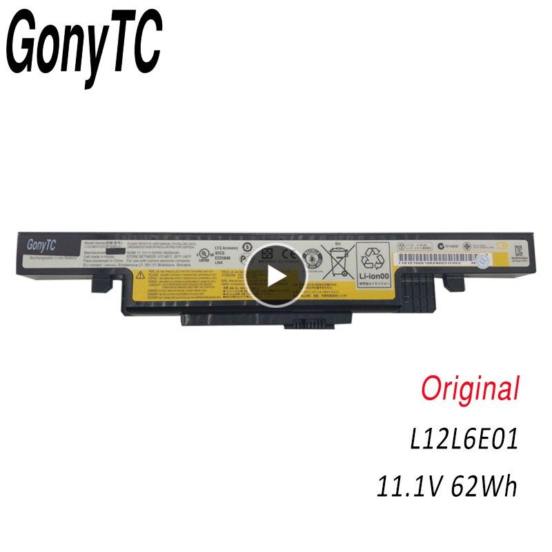 GONYTC L12L6E01 Original Laptop battery For Lenovo Y490 Y490P Y400 Y410P Y400N Y500 Y500N Y510P L11L6R02 L11S6R01 L12L6E01