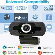 New HD 1080P Webcam Clip-on Digital Camcorder With Microphone Conferencing Online Course  For PC Des