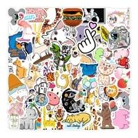 103050pcs mix cute cartoon stickers graffiti decal phone laptop suitcase bike skateboard kawaii aesthetic sticker kid toys
