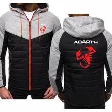 NEW for Abarth Car Logo Print Sweatshirt Spring Autumn Men Hoodie Jacket Fashion Casual zipper Hoody