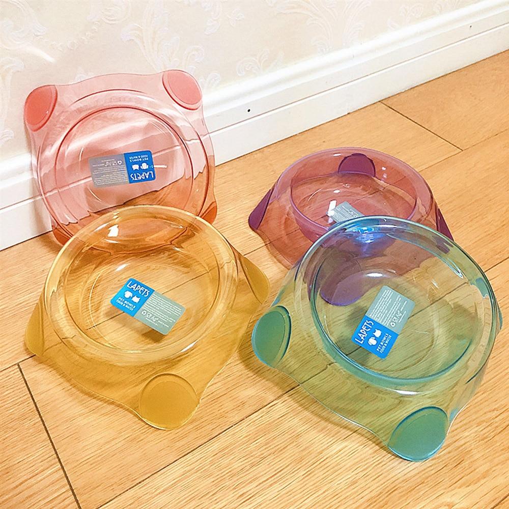1 Uds tazón para mascotas de cristal transparente caramelo tazón para comida de perro tazón de perro gato Universal asequible duradero contenedor de comida para perros