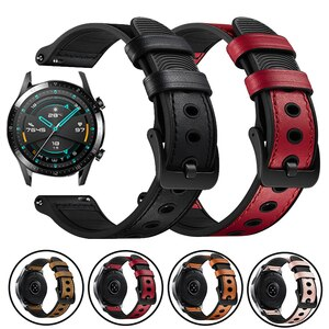 Genuine Leather Strap For Huawei Watch GT2 Pro Smart Band For Honor GS Pro / ES Huawei GT 2 42mm 46mm 20/22mm Bracelet Watchband