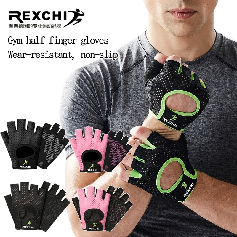 Gym Gloves Fitness Weight Lifting Gloves Body Building Training Sports Gloves Workout Half Finger Hand Protector for Men Women anti skid sports half finger care palms fitness gloves training dumbbell hand protector fitness equipment